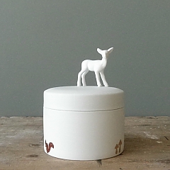 Porcelain Box Deer