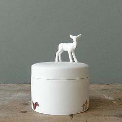 Porcelain Box Deer