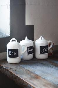 Rivièra Maison Chalkboard Spice Jars