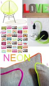 Neon Moodboard