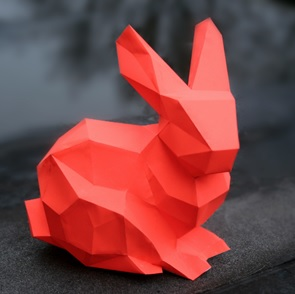 Porcelain Bunny Red