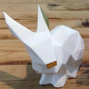 Porcelain Bunny White:Gold
