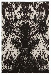 Pony tapijt door Alexander McQueen. De print is geïnspireerd op de haren van een pony.