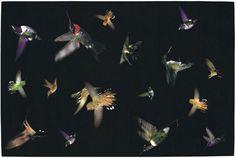 Colibrie Collectie tapijt door Alexander McQueen (ook verkrijgbaar als muurtapijt)