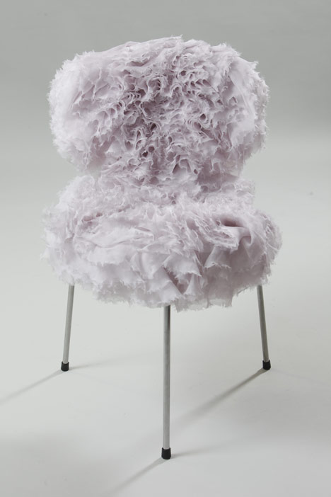 Hand Massaged Petal Chair by Sarah Burton for Alexander McQueen