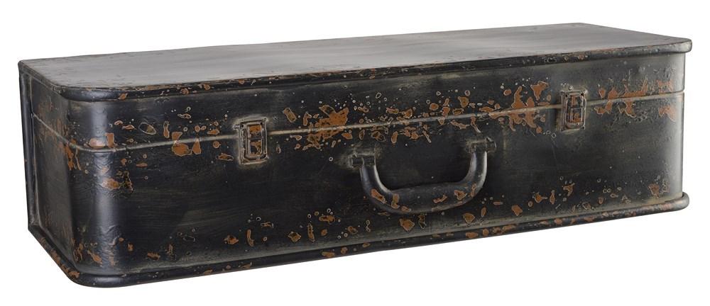 Geloof het of niet, maar deze koffer is eigenlijk een wandplank ...