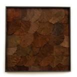 Leaf Wandpaneel donker bruin