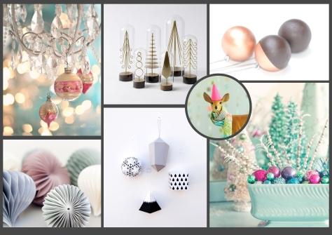 Pastel-Geometrie Kerst