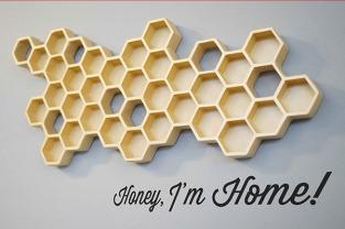Honey_I'm_Home_Sleutelhouder_Sleutelhangers_Honingraat