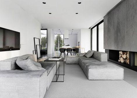 Modern Linen Couch