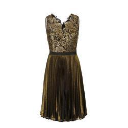 gouden-plisse-jurk